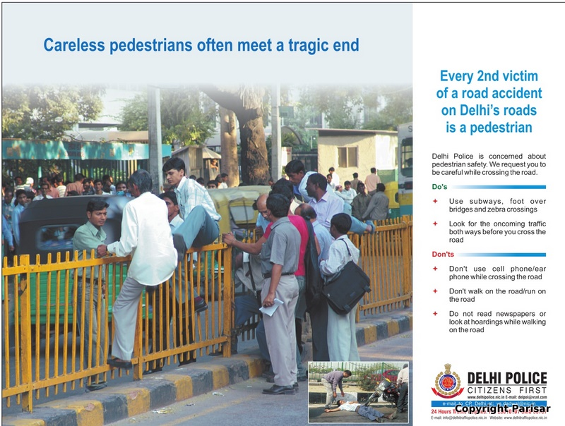 Delhi police and pedestrian safety